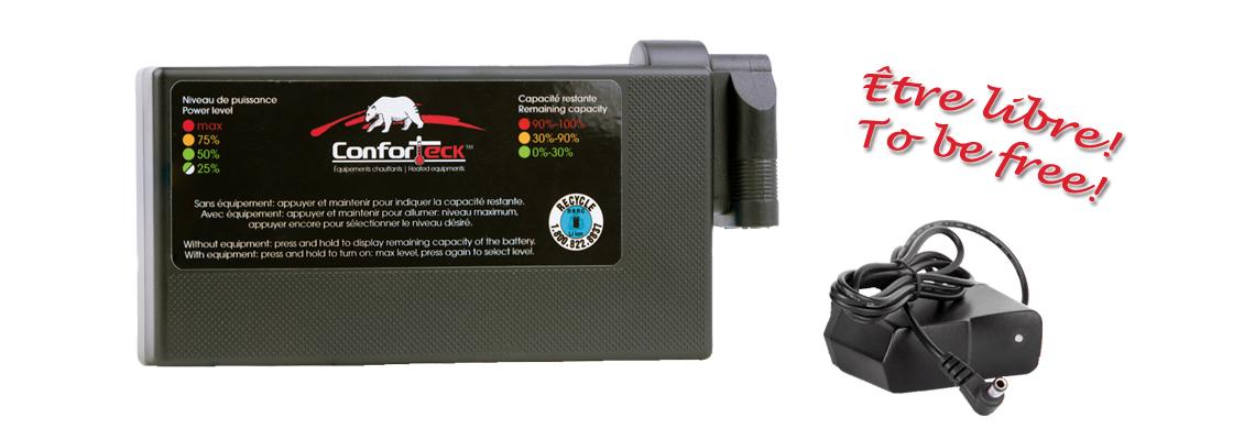 Batterie au lithium avec contrôleur intégré