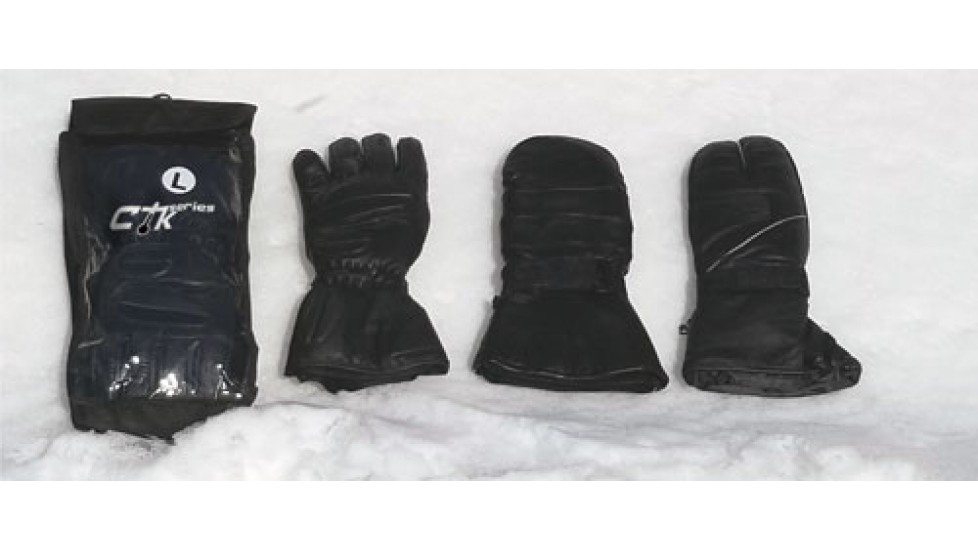 Non-heated leather mittens