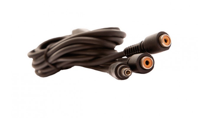 "« Y » shaped 66"" long cable DC to 2 RCA"