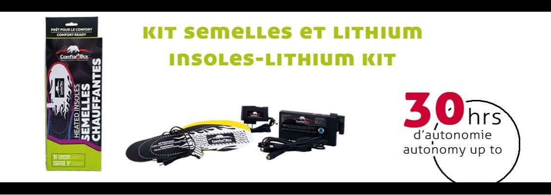 insoles and lithium kit