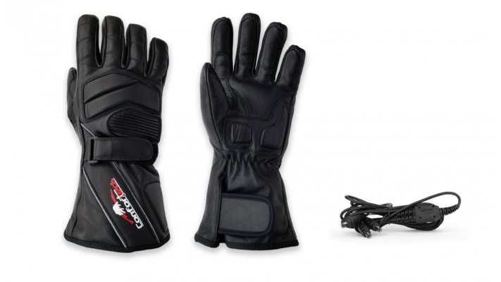 Pre-curved winter heated gloves
