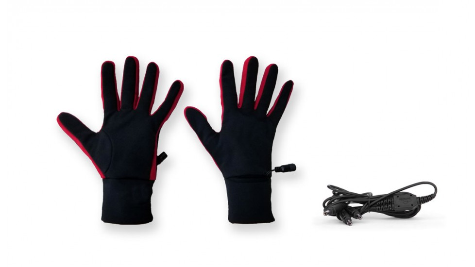 Carbon heated liner gloves - red line